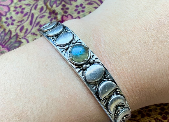 Moon Phases Cuff Bracelet