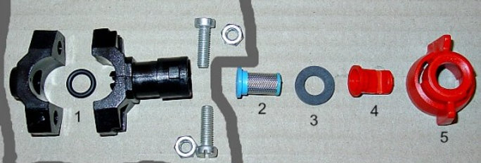 Old Style Plastic Boom Nozzle Assembly Parts - Ref OLDPBN