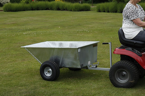Galvanised Tipping Dump Trailer - Wide Profile Wheels - Ref GDTT/GALV