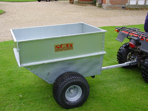 Large Capacity Galvanised Tipping Dump Trailer -Flotation Wheels - Ref QDGT