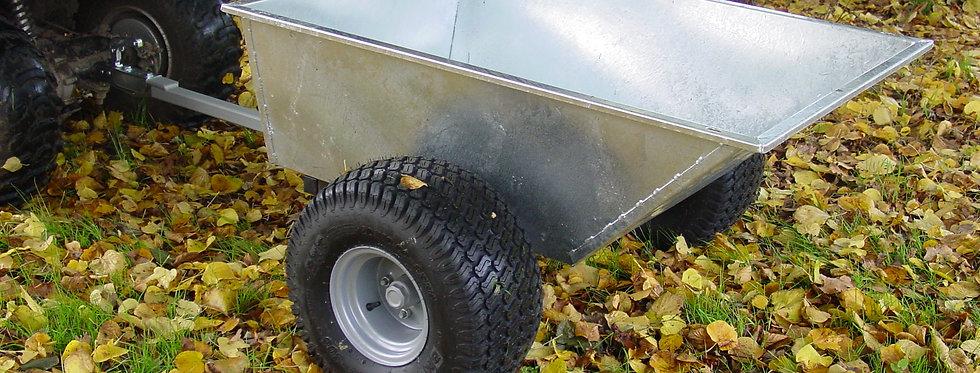 Galvanised Tipping Dump Trailer - Flotation Wheels - Ref QDT