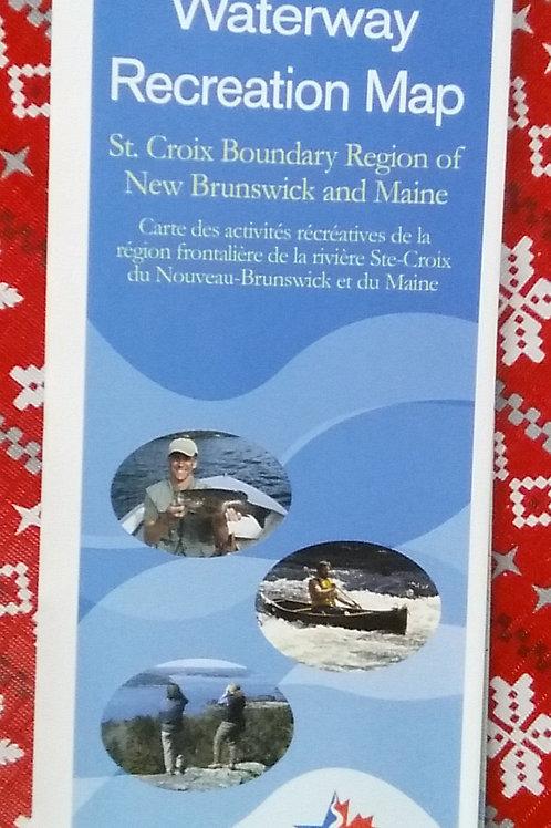 St. Croix River Canoe Map