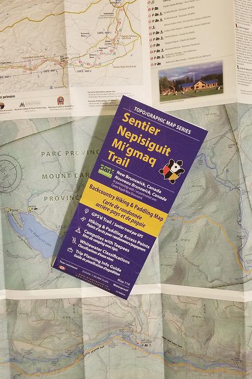 Nepisiguit River Region Paddlers and Mi'gmaq Trail Map