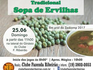 Tradicional Sopa de Ervilhas - Domingo 25.06 - a partir das 11h00.