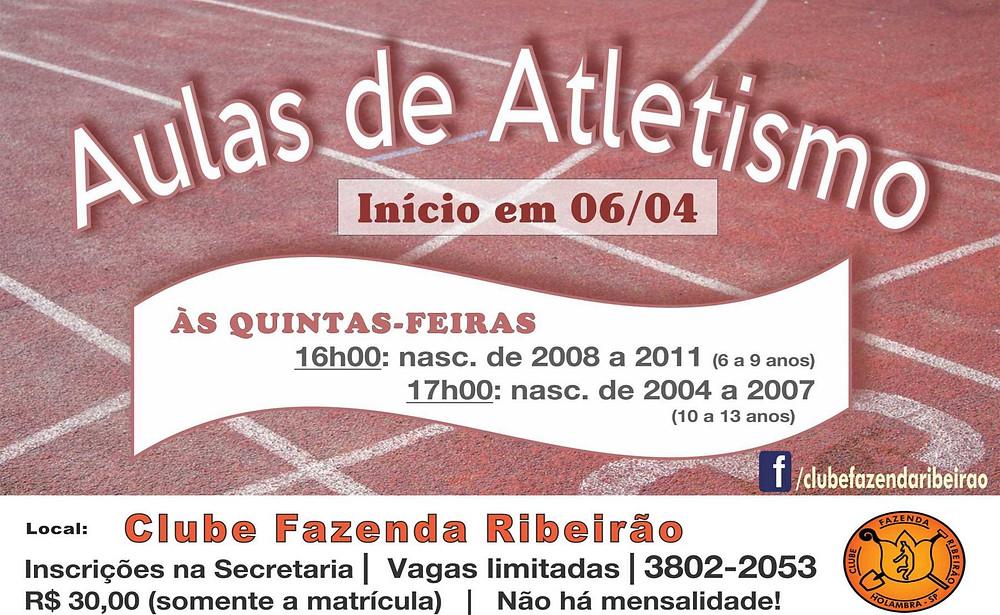 Aulas de Atletismo - Participe!