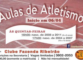 Aulas de Atletismo - Início 06.04