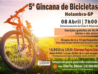 5ª Gincana de Bicicletas - Você não pode perder!!!
