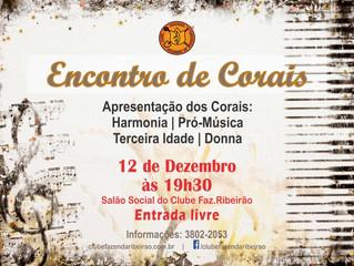 Encontro de Corais - 12/12 às 19h30