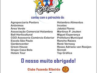 39º Zeskamp - O nosso agradecimento aos patrocinadores!!!