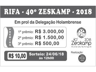 Rifa - Zeskamp 2018 - Adquira já a sua e colabore com o Zeskamp!