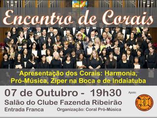 Encontro de Corais no CFR - 07/10