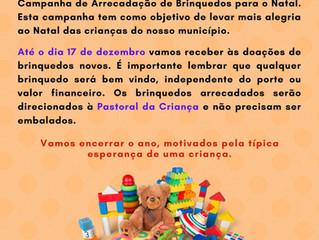 1ª Campanha de doação de brinquedos no CFR