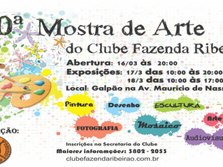 10a. Mostra de Arte  do Clube Fazenda Ribeirão
