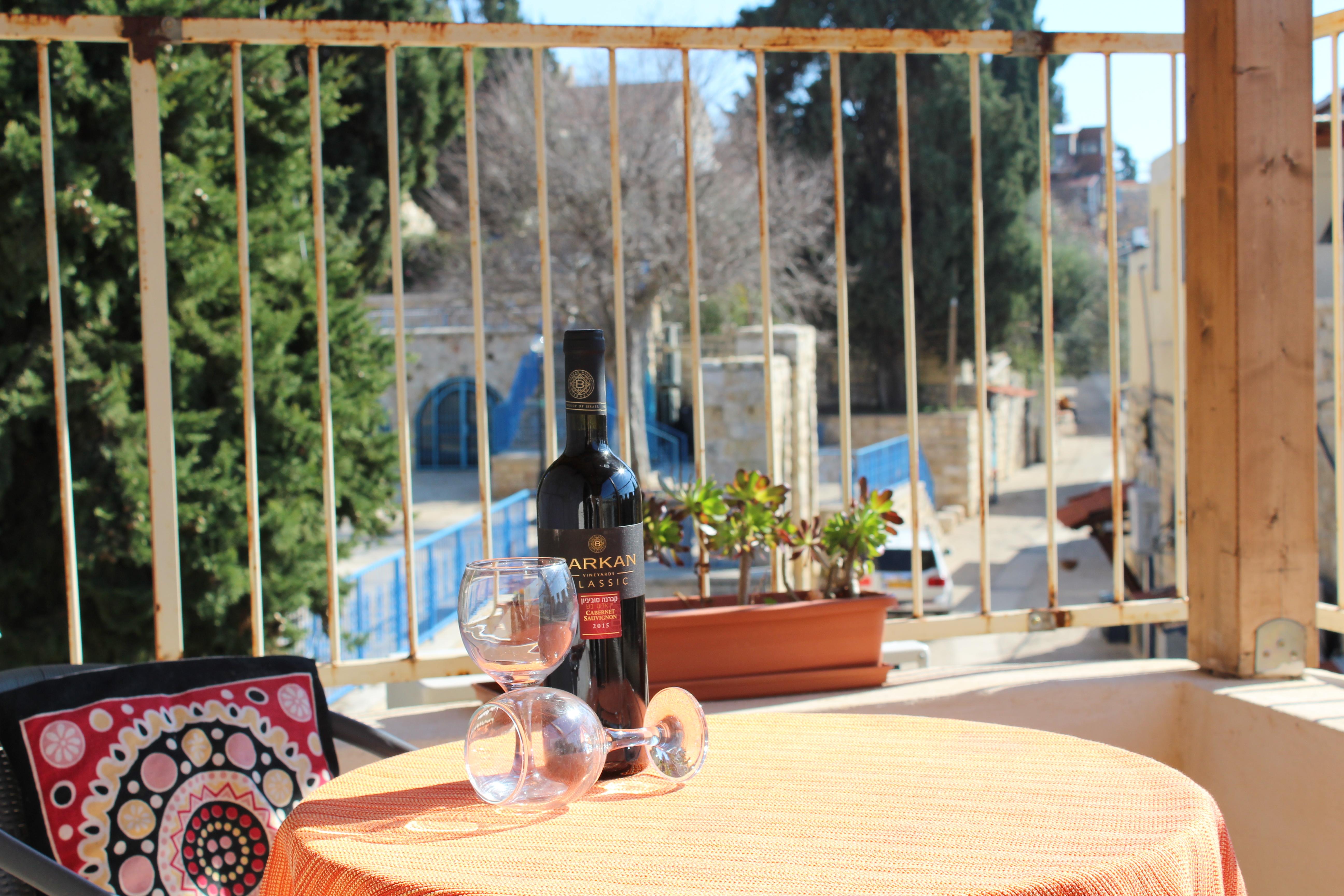 Terrace overlooking the Maayan