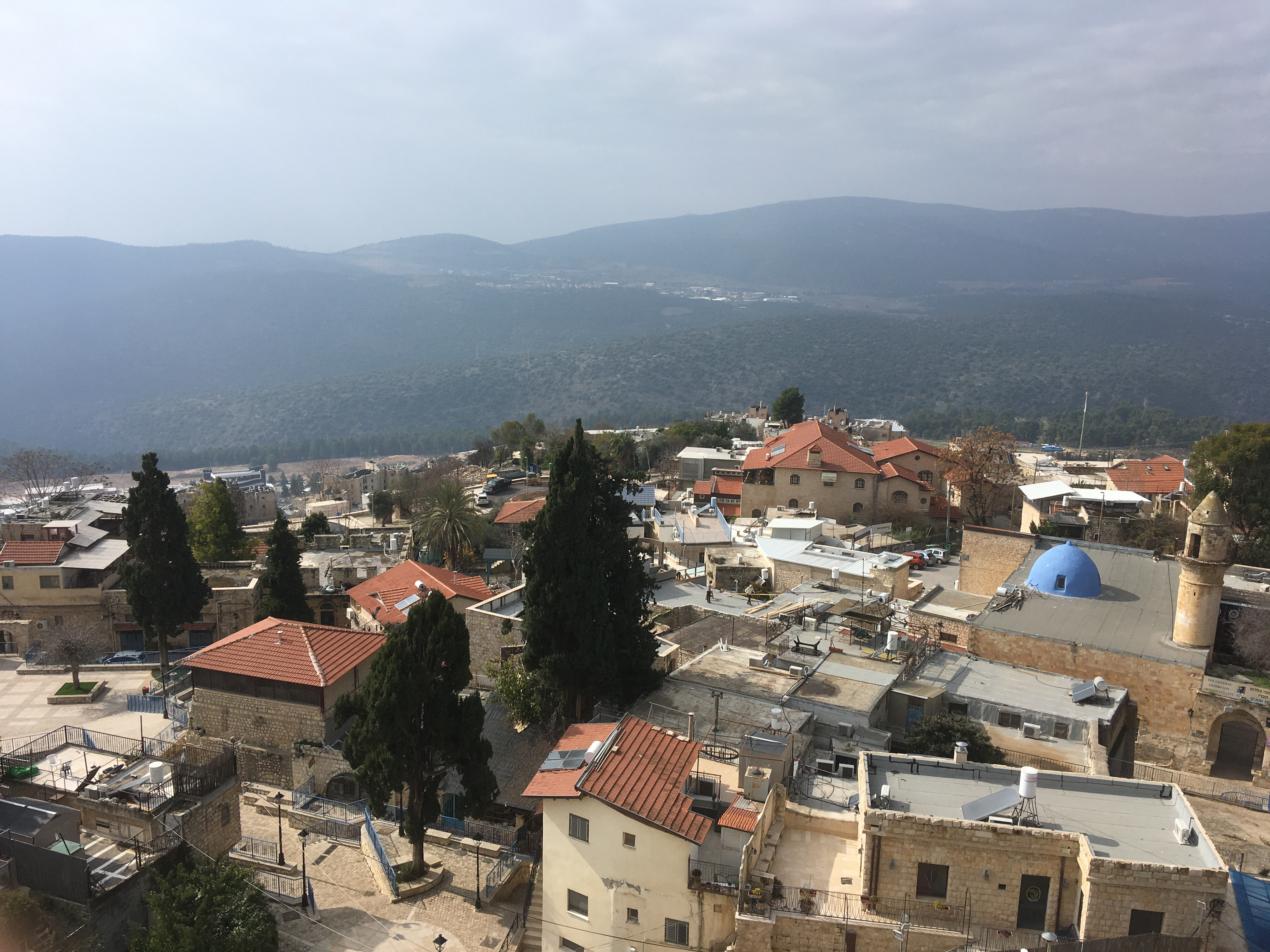 Safed view from above