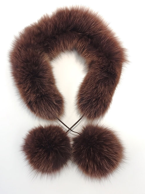 Echarpe pompon renard Fox pompon scarf Vos pompom sjaal