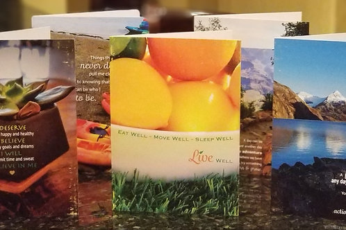 Collection Healthy Motivational Greeting Cards