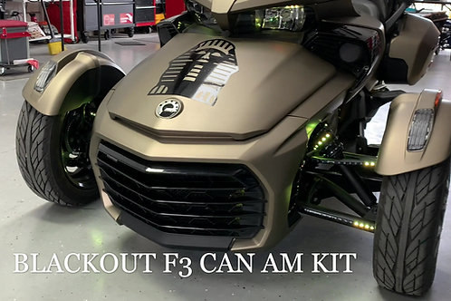 (1N) Blackout F3 Can Am Spyder Chase Kit