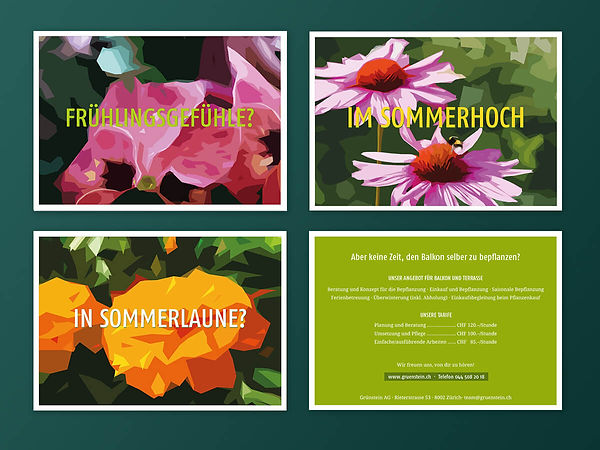 Grünstein Flyer Postkarten