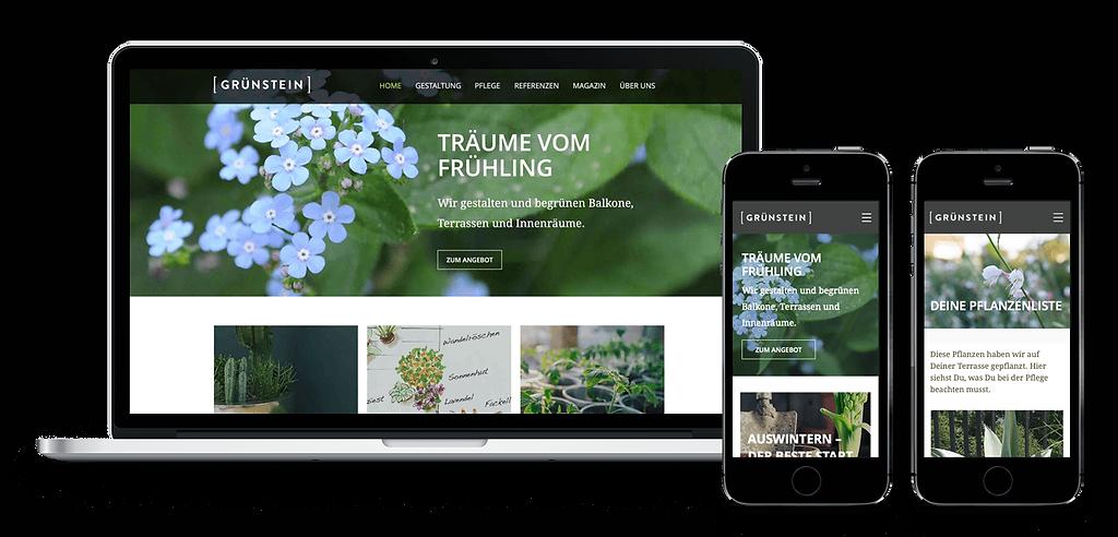 Grünstein Website