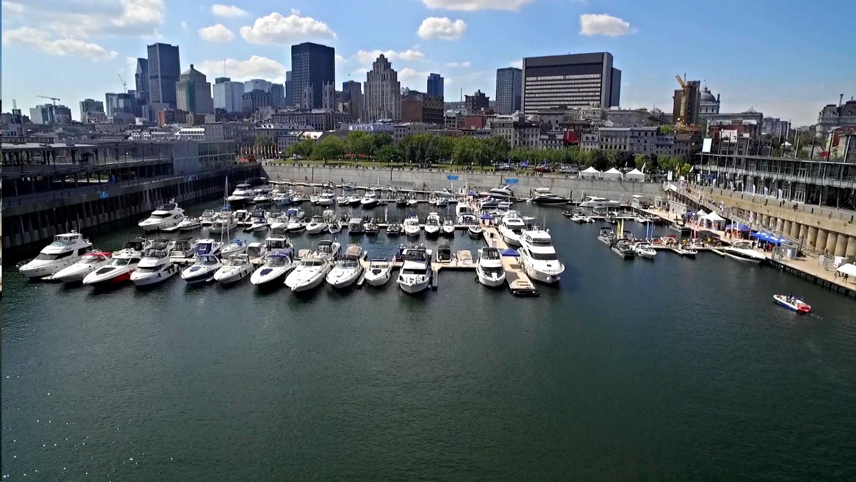 photo aérienne  vieux-port montréal