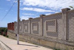 Забор до отделки.