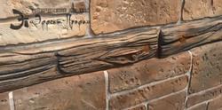 имитация камня и дерева на фасаде