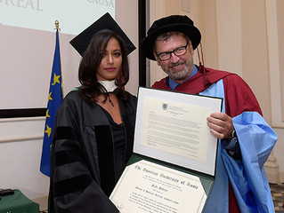 Awarding an Honorary Doctoral Degree to the irrepressible Rula Jebreal