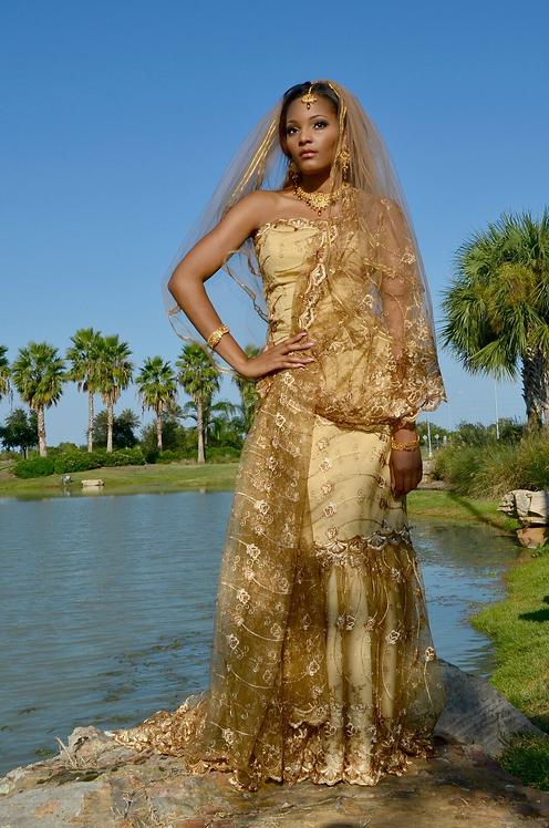 Gold Bridal Gown - QOB4