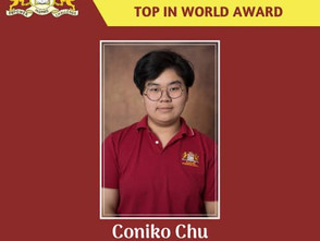 JIS Student Achieves 'Top In The World Award'