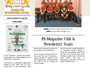 First JIS Newsletter Created By the Students For the Students