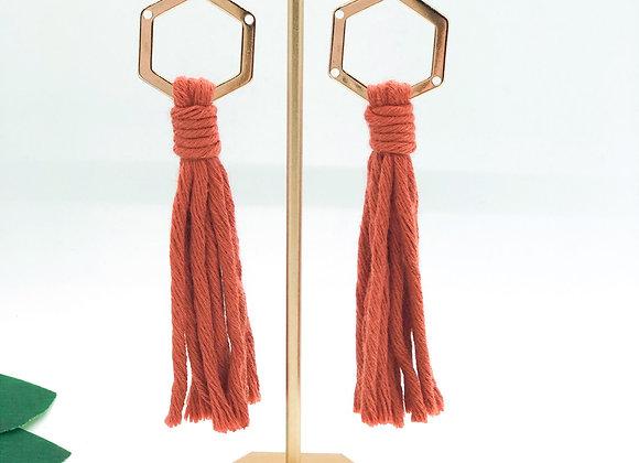 Hera Golden Dangles earring set