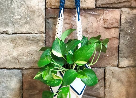 Athena - Double Color Macrame Plant Hanger