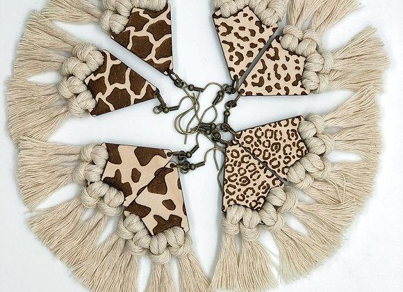 Hera - Animal Print Earrings