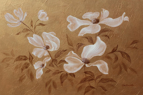 "Original Painting ""Golden Blossoms"""