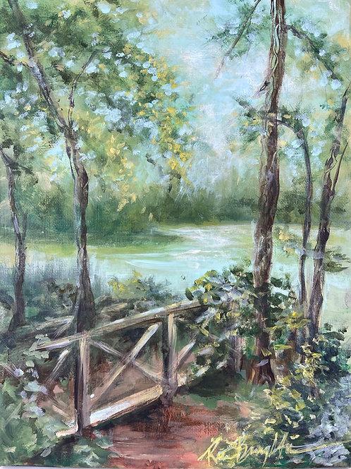 Bridge Near The Pond