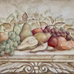 Fruit & Scroll with Pears