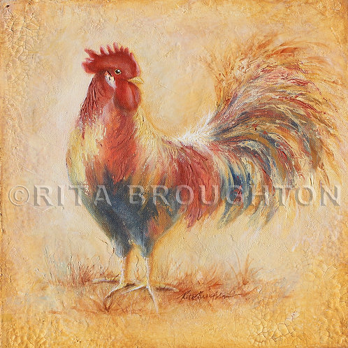 "Original Painting ""Red Rooster"""