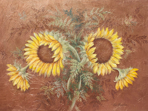 "Original Painting ""Paired Sunflowers"""