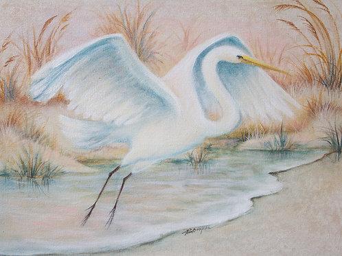 """Original """"Flying Egret"""""""