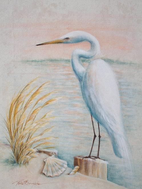 """Original Painting """"Egret"""""""