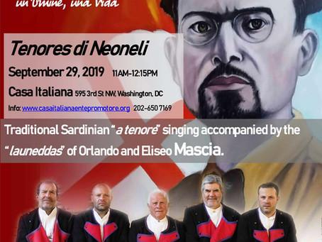 Sardinian Tenores di Neoneli to Perform at Casa Italiana