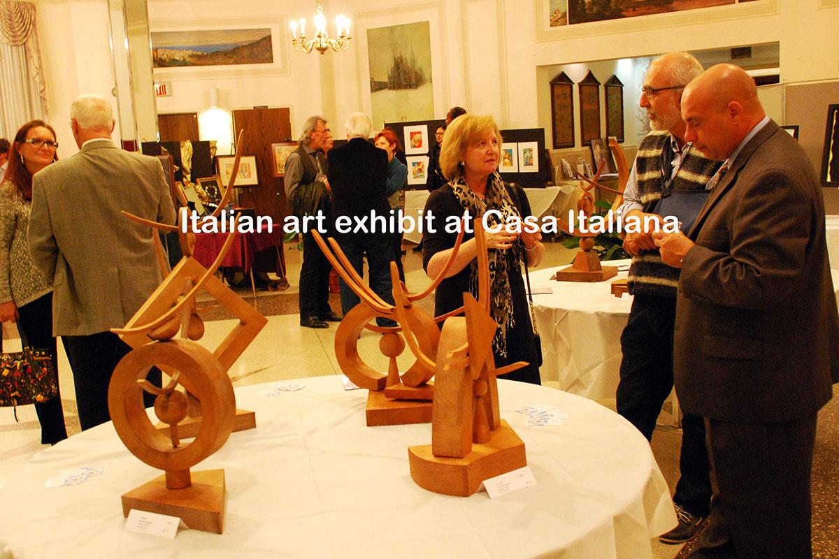 Art show at Casa Italiana