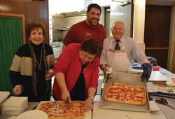 Making pizza at Casa Italiana