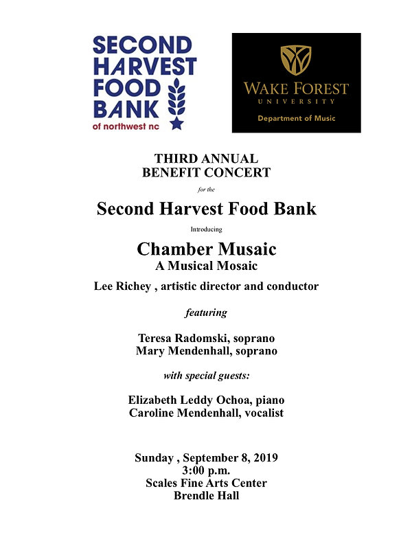 Wake Forest Second Harvest FB Benefit Pr