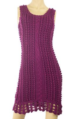 Knit Purple Dress