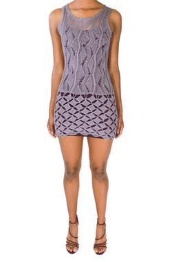 Knit Purple Lavender Dress