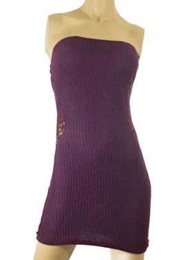 Mesh Knit Strapless Dress