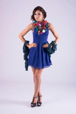 Knit Blue Dress