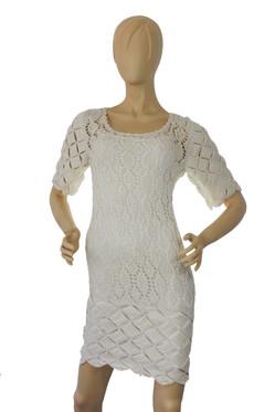 Handmade Knit Fabric White